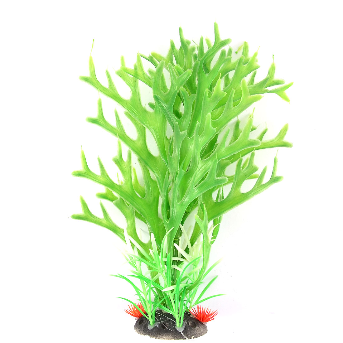 Aquarium Fish Tank Artificial Underwater Landscape Plant 25cm Height Green