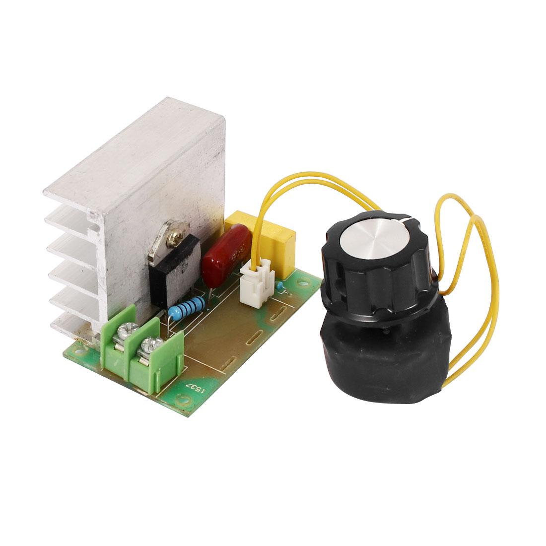 4000W AC 220V SCR Voltage Regulator Dimming Light Speed Controller Thermostat