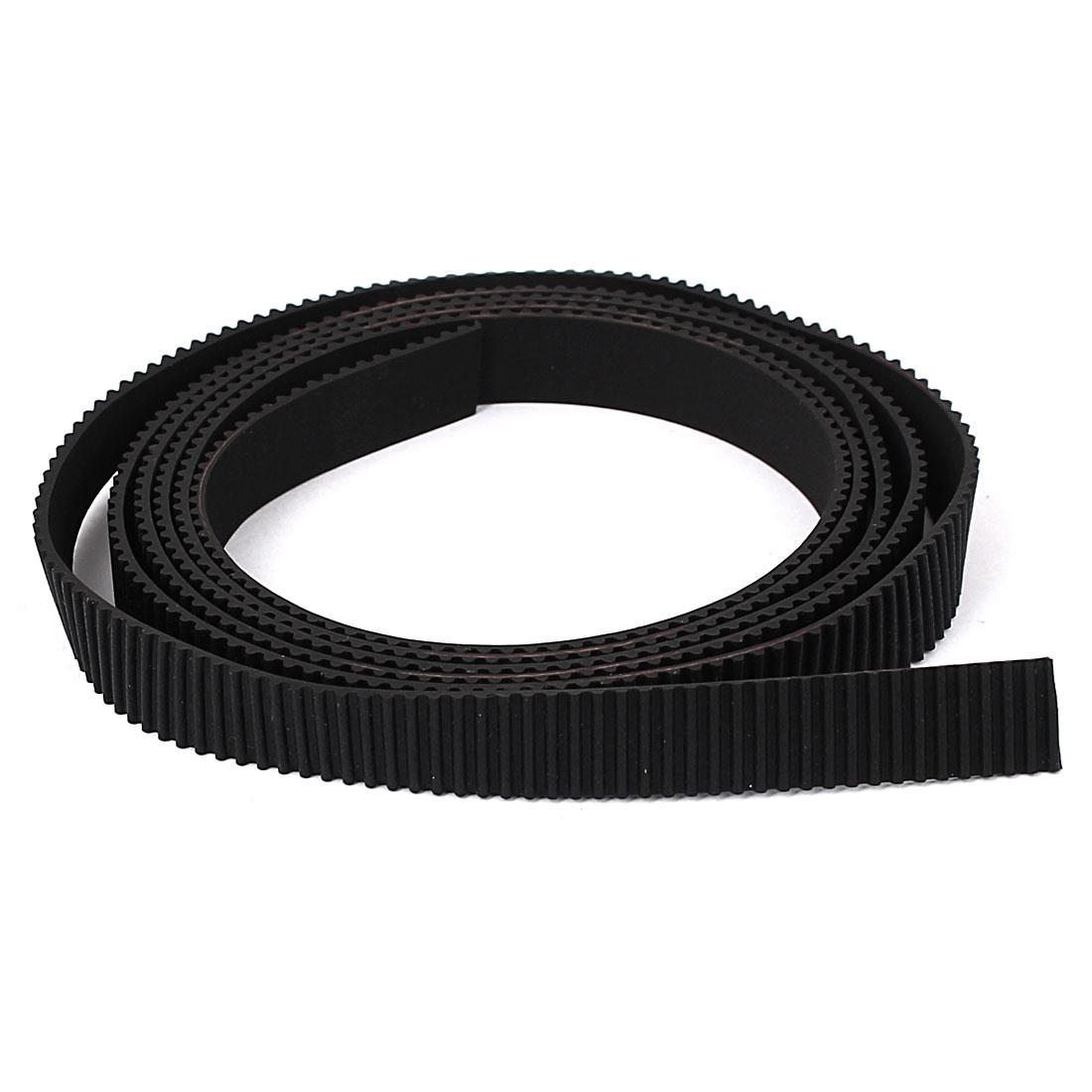 1 Meter Length Open Ended Rubber Timing Belt Black for 3D Printers