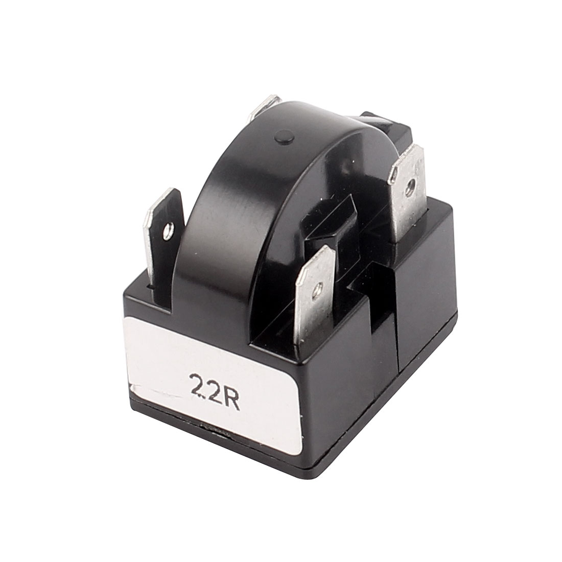 Black Plastic Shell 22 Ohm Resistance 4 Terminals PTC Starter Relay for Refrigerator