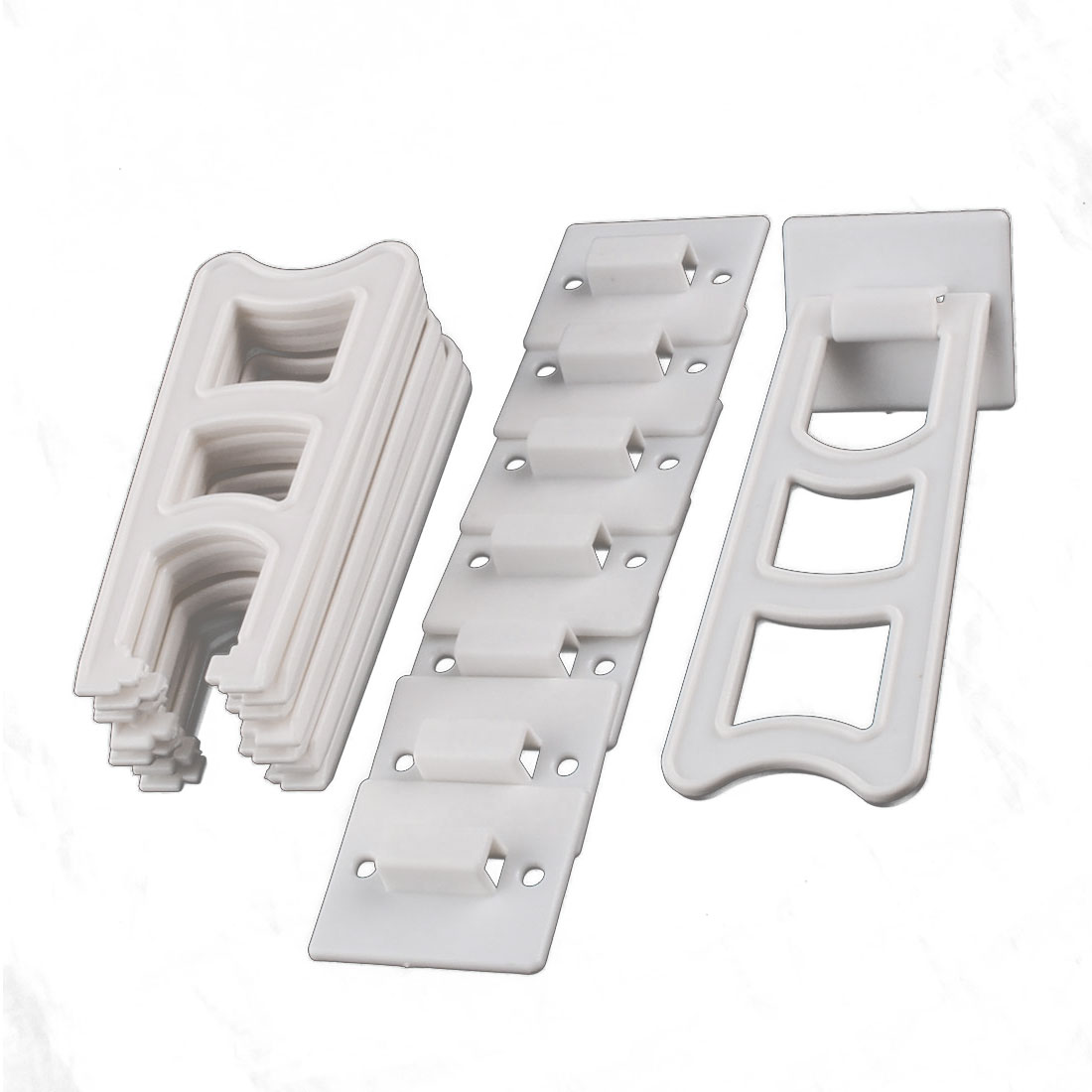 Home Plastic Trapezoid Shaped Display Holder Photo Frame Stands White 8 Sets