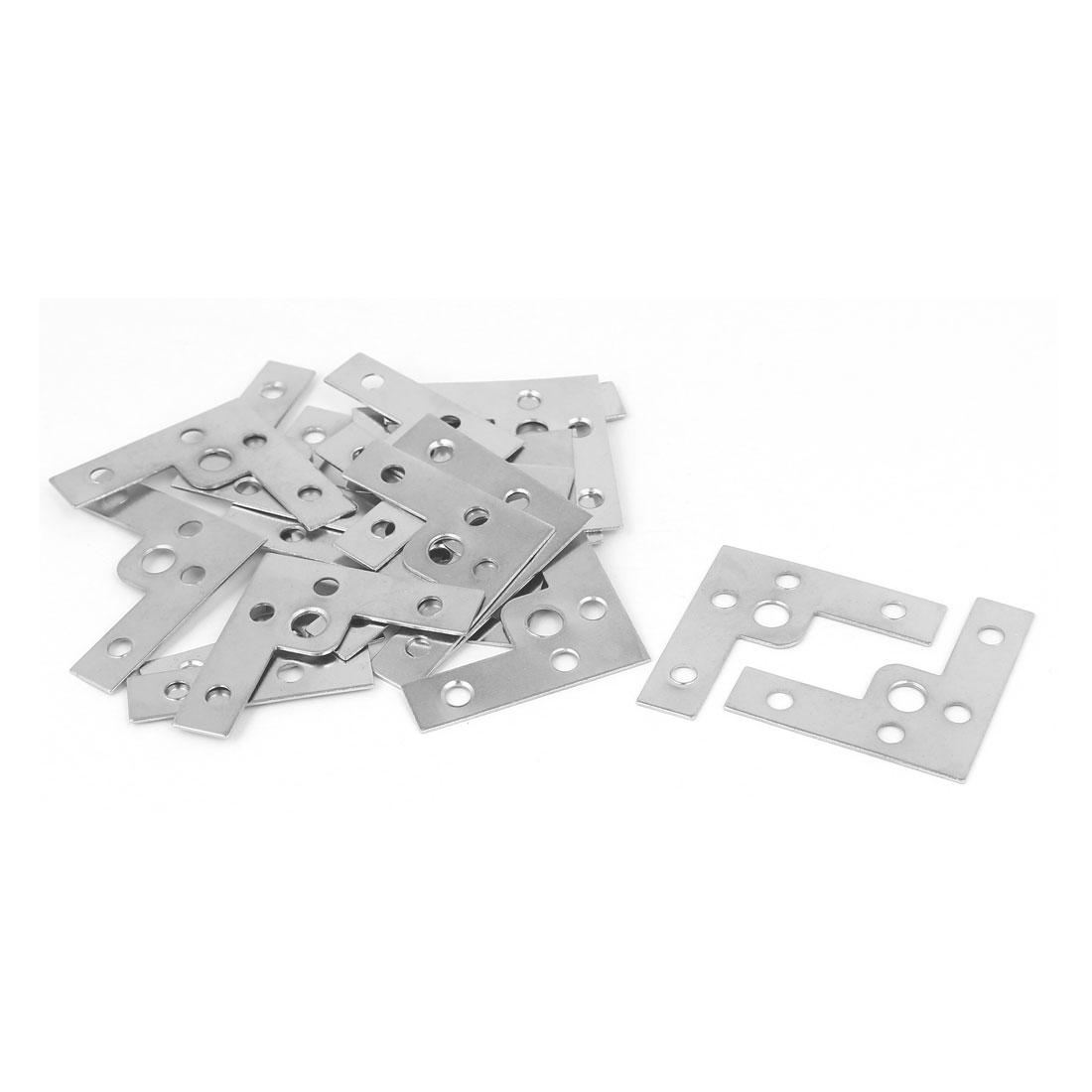 40mmx40mmx1mm L Shape Angle Bracket Corner Brace Flat Repair Plate 20pcs