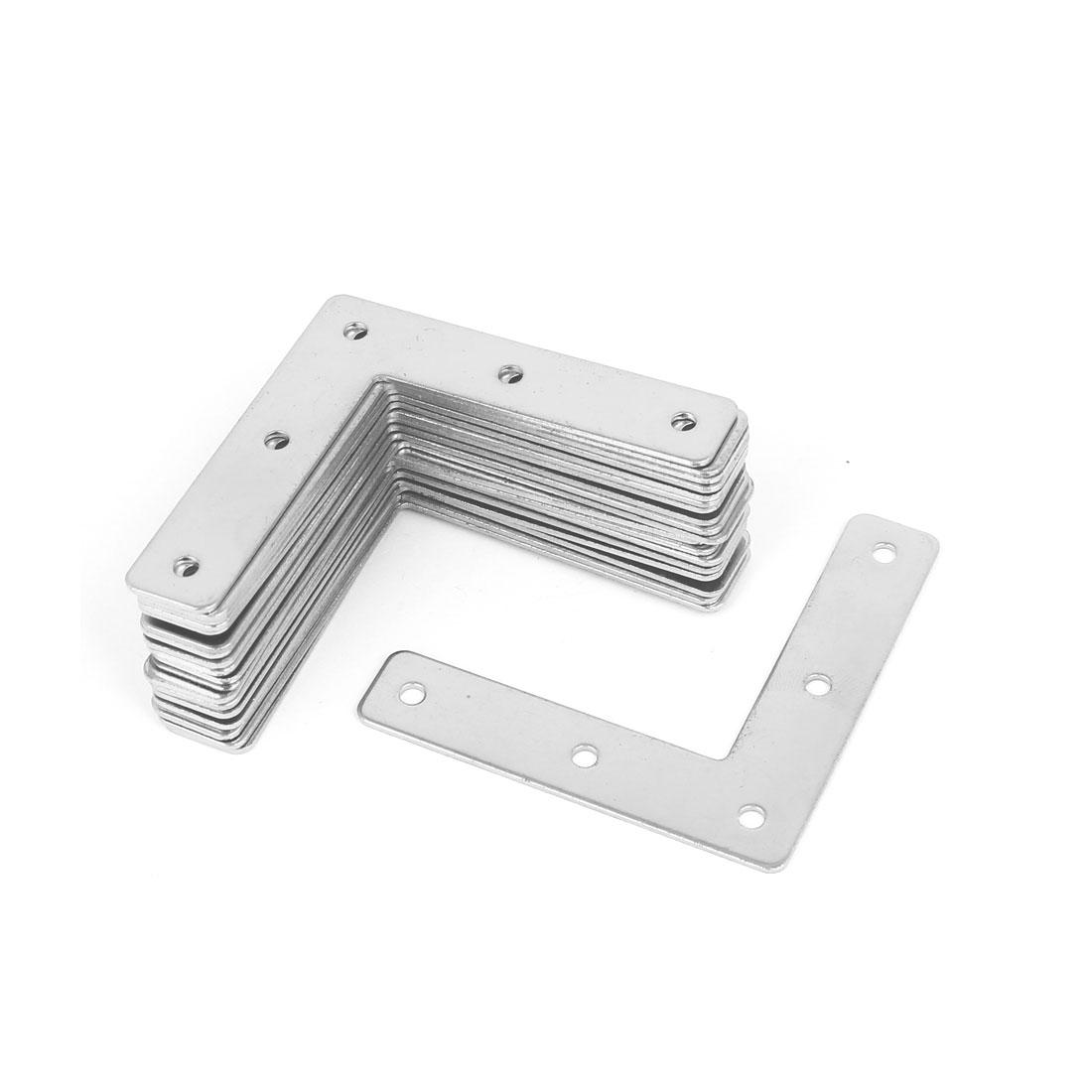 73mmx73mmx1.5mm L Shape Angle Bracket Corner Brace Flat Repair Plate 20pcs
