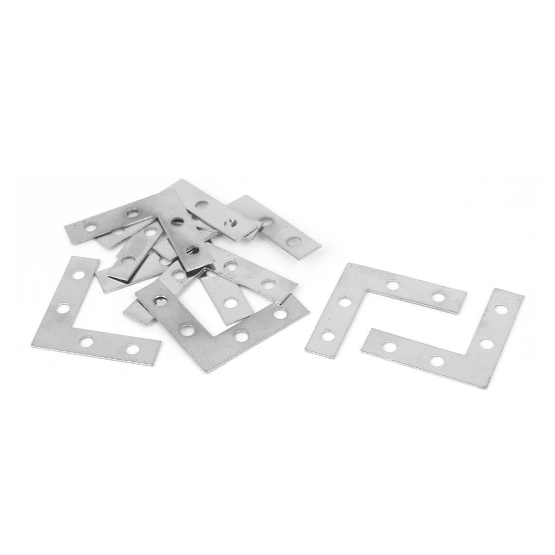 38mmx38mmx1mm L Shape Angle Bracket Corner Brace Mending Plate 10pcs