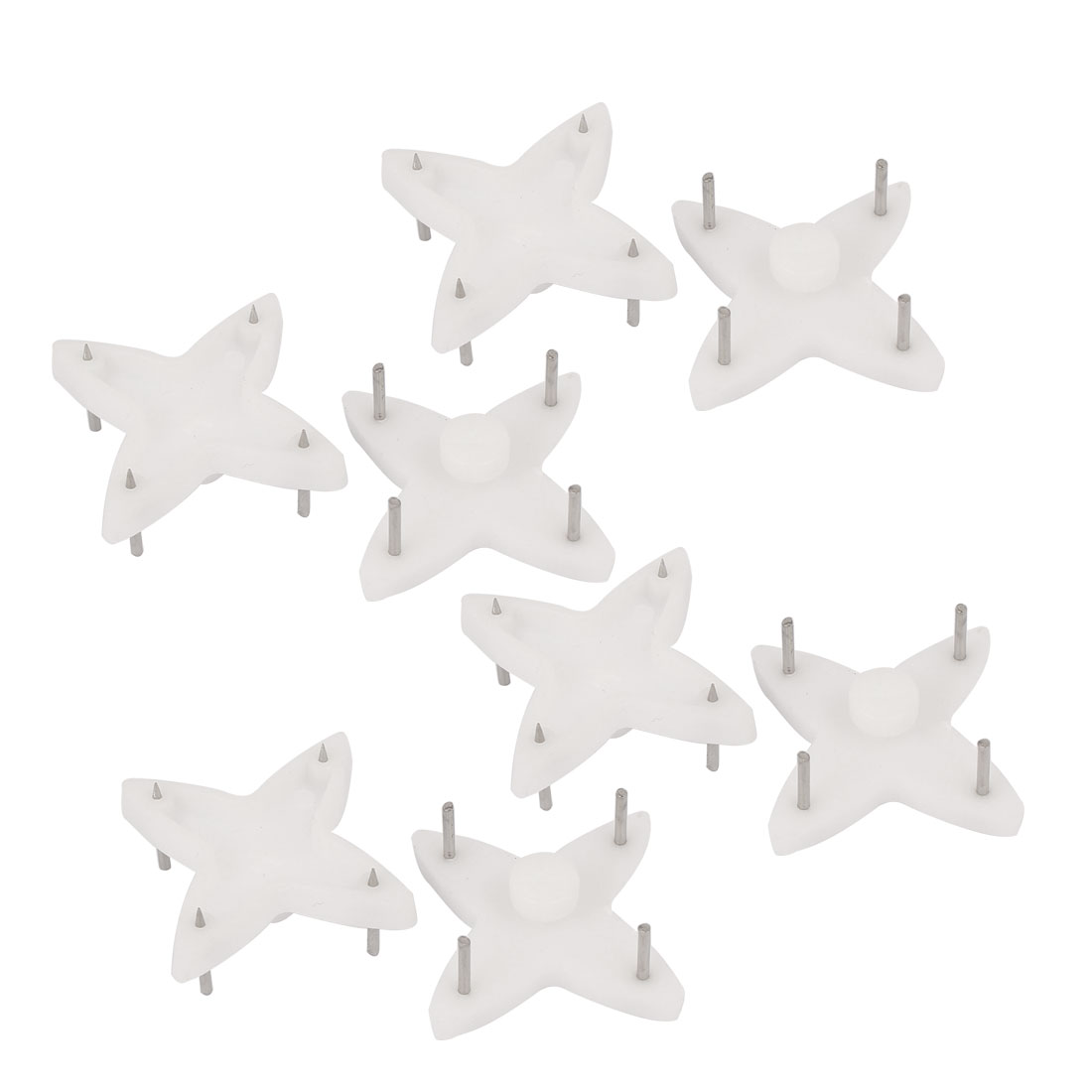 Picture Photo Frame Hanging Plastic Non-trace Hard Wall Hanger Nail White 10pcs