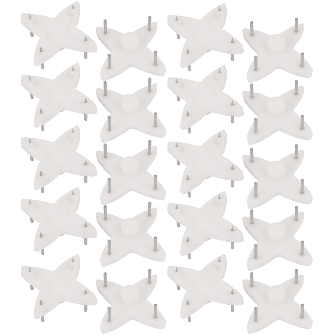 Picture Photo Frame Hanging Plastic Non-trace Hard Wall Hanger Nail White 20pcs