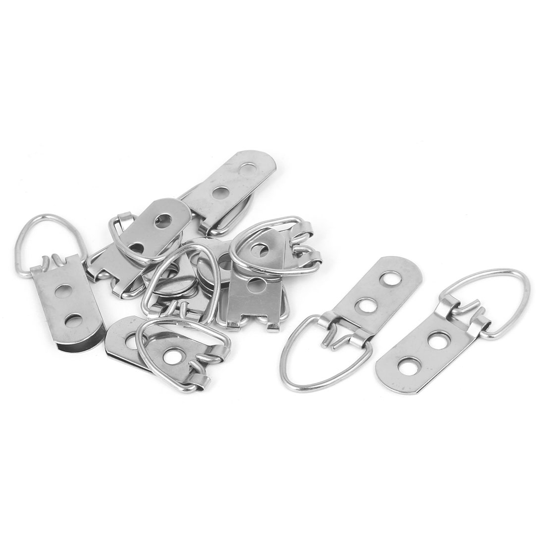 Picture Photo Frame Hanging Double Holes Triangle D-Ring Hanger 53mmx20mm 10pcs