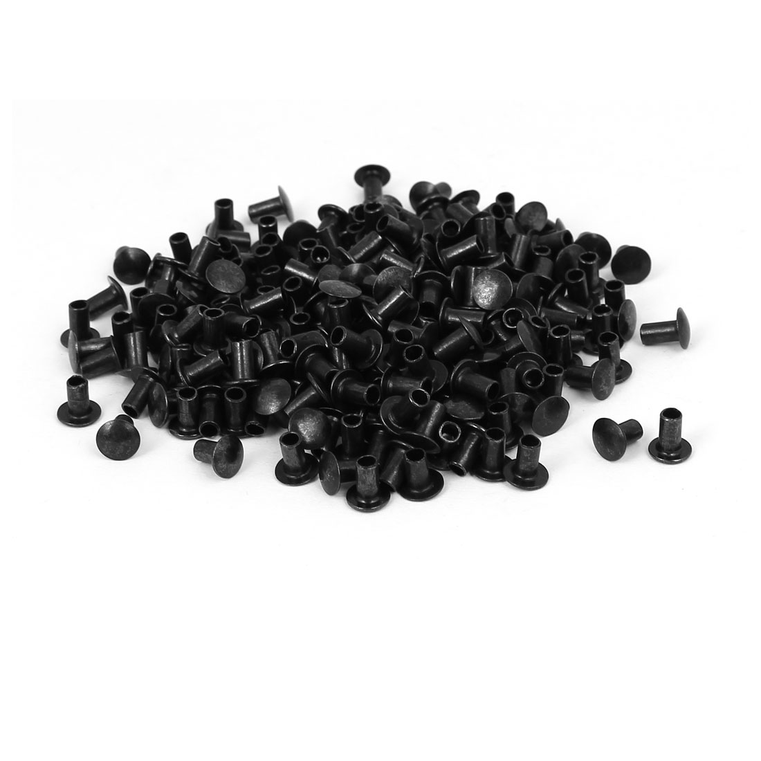 Photo Frame Backboard Metal Hollow Rivet Fastener Black 6mmx6mm 200pcs