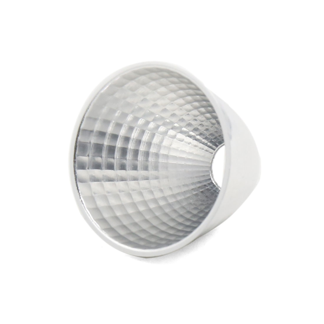 Silver Tone 45mm Diameter LED Lamp Flashlight Reflector Collimator Holder
