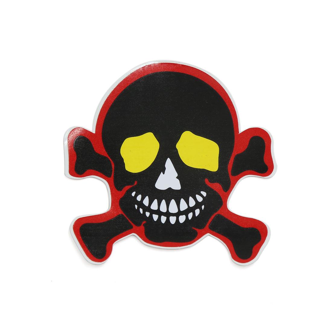 Black Red Yellow White Skull Head Self Adhesive Car Decorative Sticker 10pcs