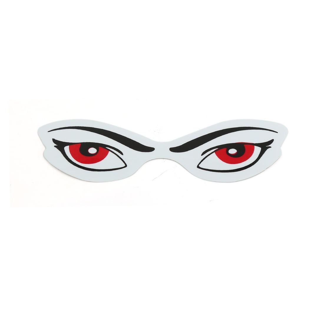Red Black Eyes Pattern Sticky Car Window Sticker Decal Decor 4.5x1.4 inch 10 Pcs