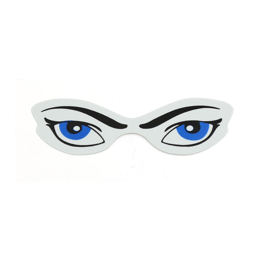 10 Pcs Blue Black Eyes Style Self Adhesive Car Exterior Sticker DIY Decoration