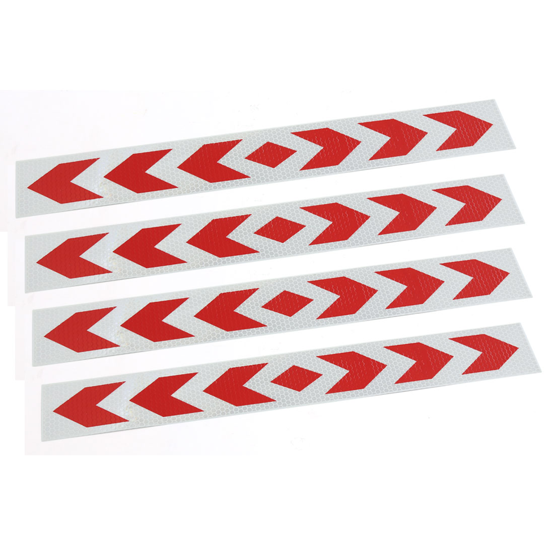 4 Pcs Red Arrows Printed Reflective Safety Sticker Decal Car Exterior Ornaments