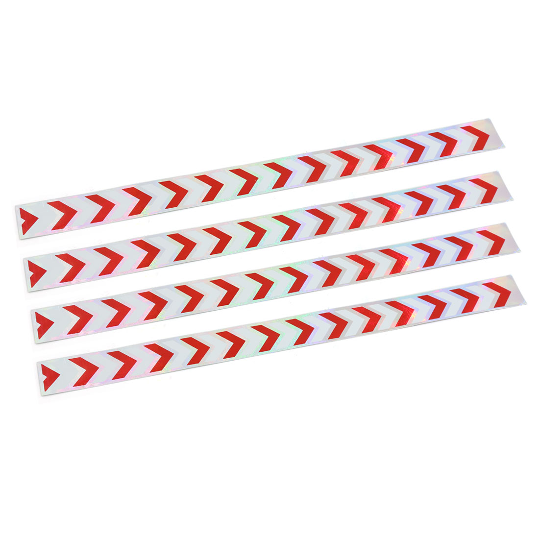 4pcs Arrow Pattern Reflective Self Adhesive Warning Tape Sticker Decal for Car