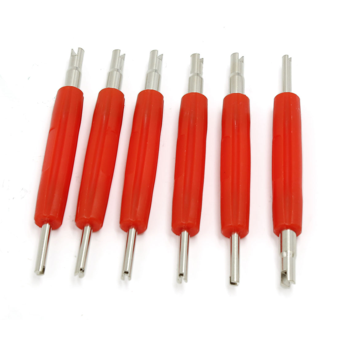 "Car Motorcycle Tyre Tire Repair Tool 2-Way Valve Core Remover 4.8"" Length 6pcs"