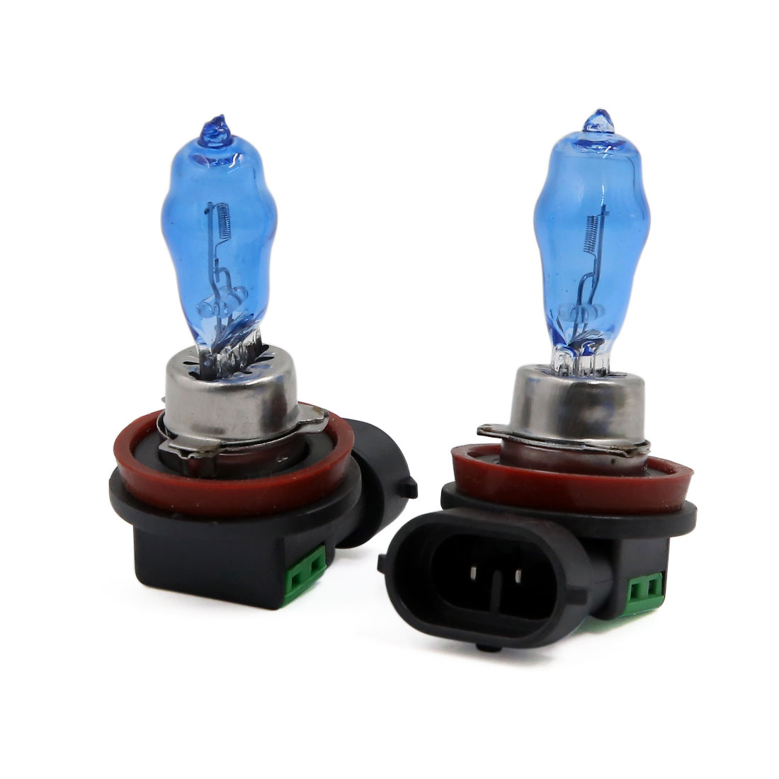 Pair H8 Xenon Halogen HOD Fog Bulb Super White Auto Car Headlights 100W DC 12V
