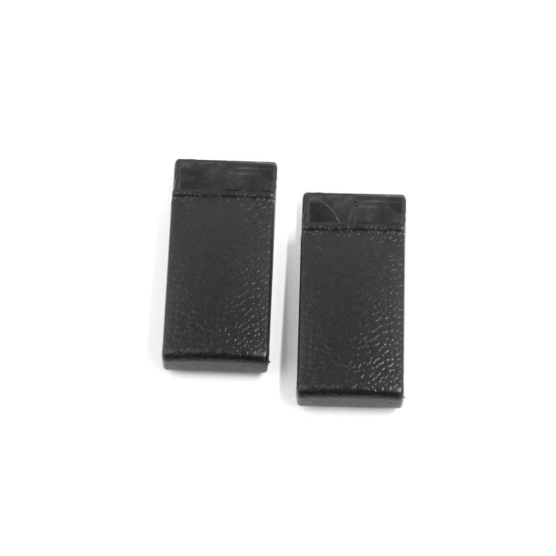 Black Plastic Sticky Car Card Bill Paper Glasses Storage Holder Clip 2pcs
