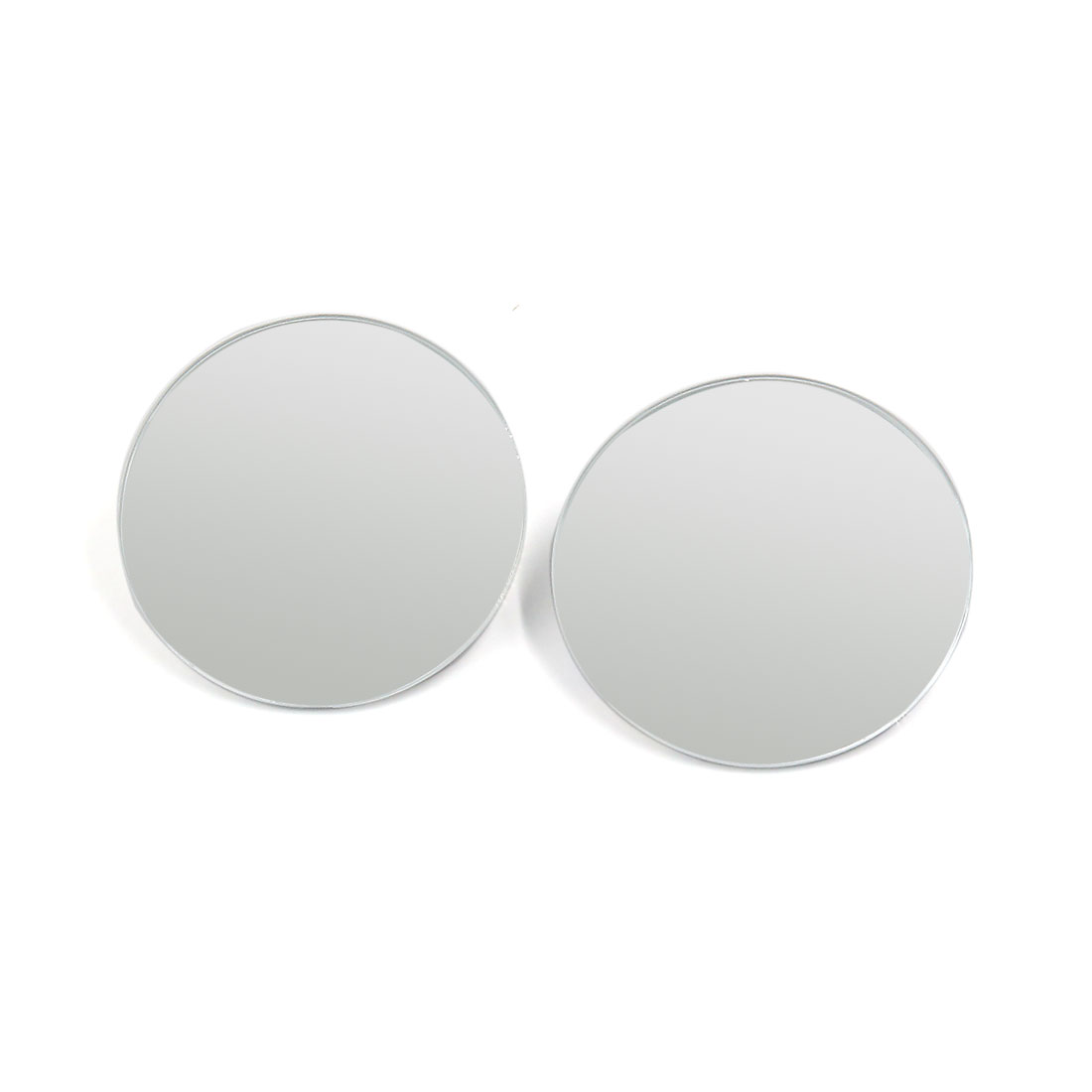 52mm Dia Round Convex Self-adhesive Adjustable Car Rear View Blind Spot Mirror 2pcs