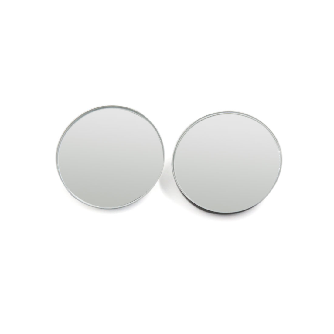 40mm Dia Round Car Exterior Blind Spot Assist Mirros Convex Adhesive Rear View Mirror 2pcs