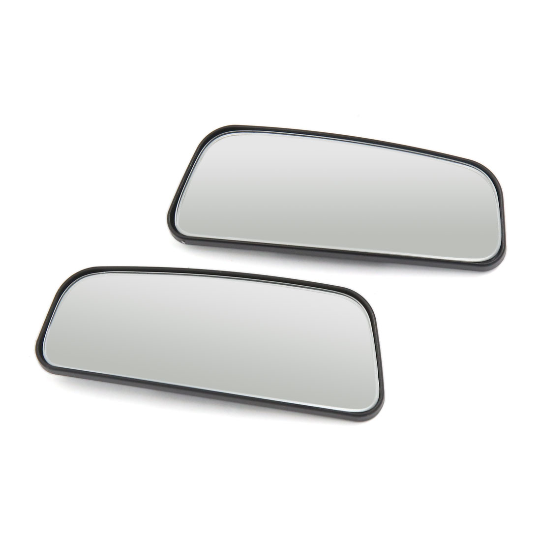 Car Adjustable Rectangular Stick-on Convex Wide Angle Blind Spot Side Rearview Mirror 2pcs