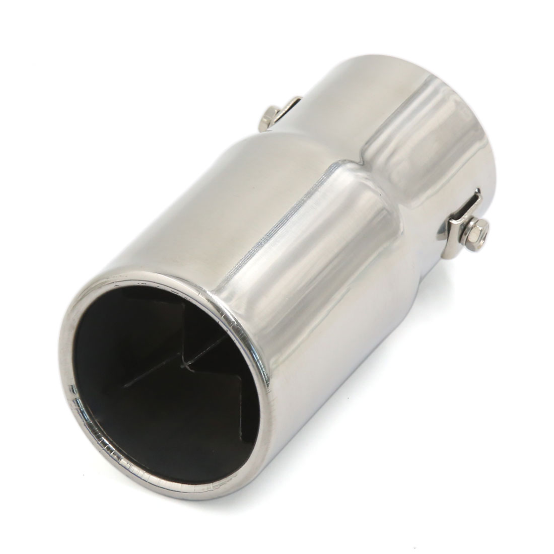 Universla Stainless Steel Oval Outlet Exhaust Muffler Tip 66mm Inlet for Car