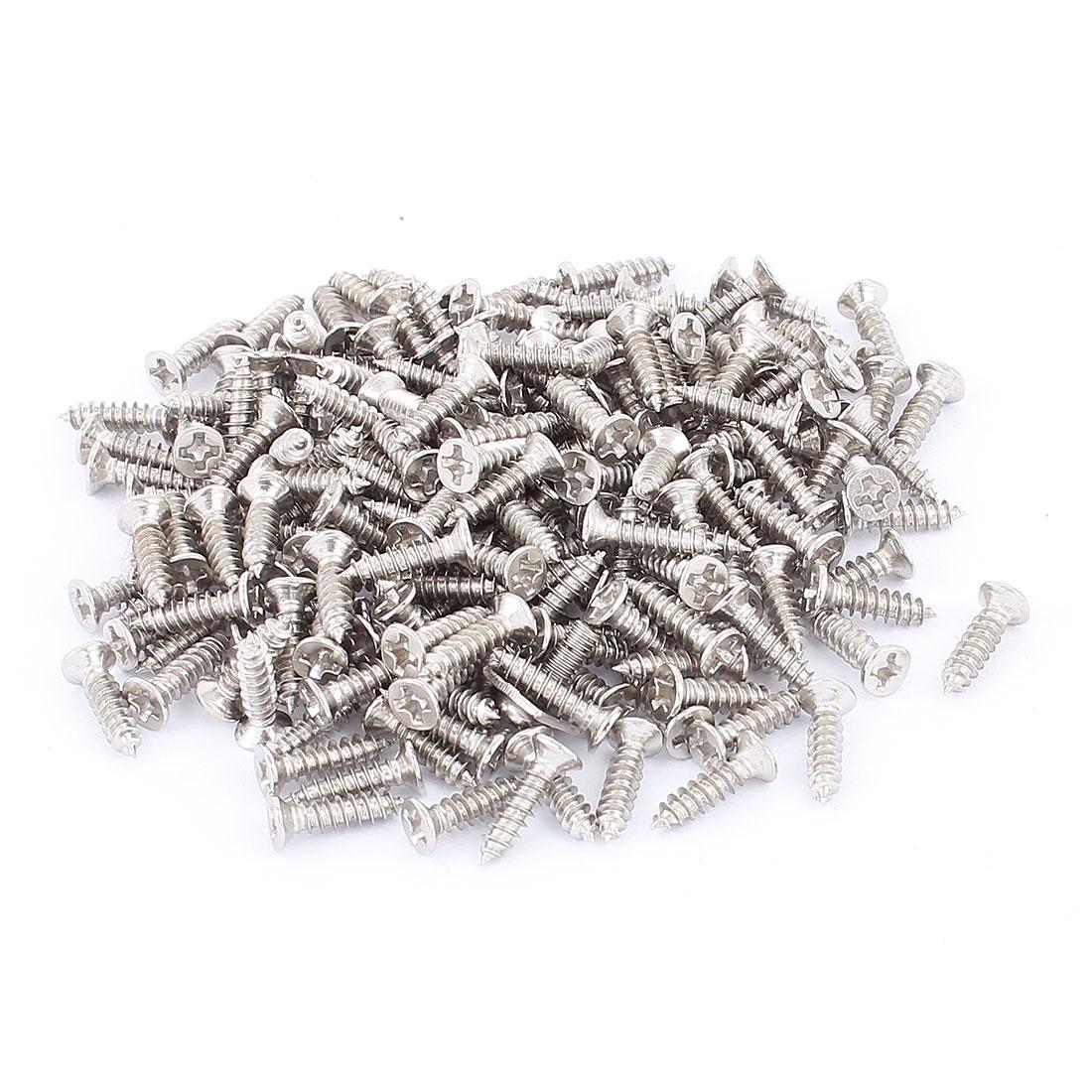 M3 x 11mm Stainless Steel Phillips Truss Plain Head Self Tapping Screws 200pcs