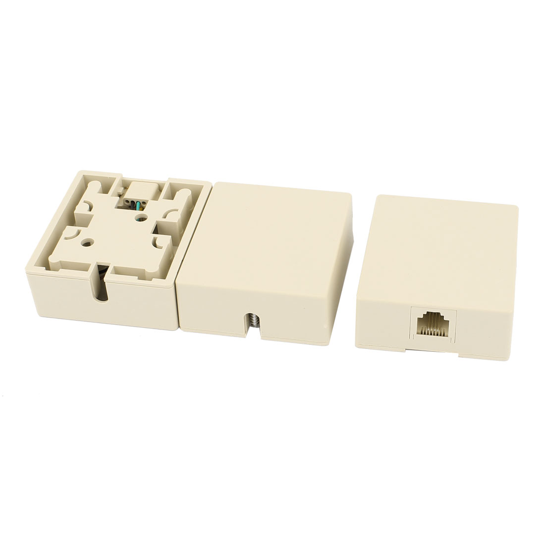 3Pcs Surface Mount RJ45 8P4C Female Phone Cable Extension Line Network Connector Adapter Jack