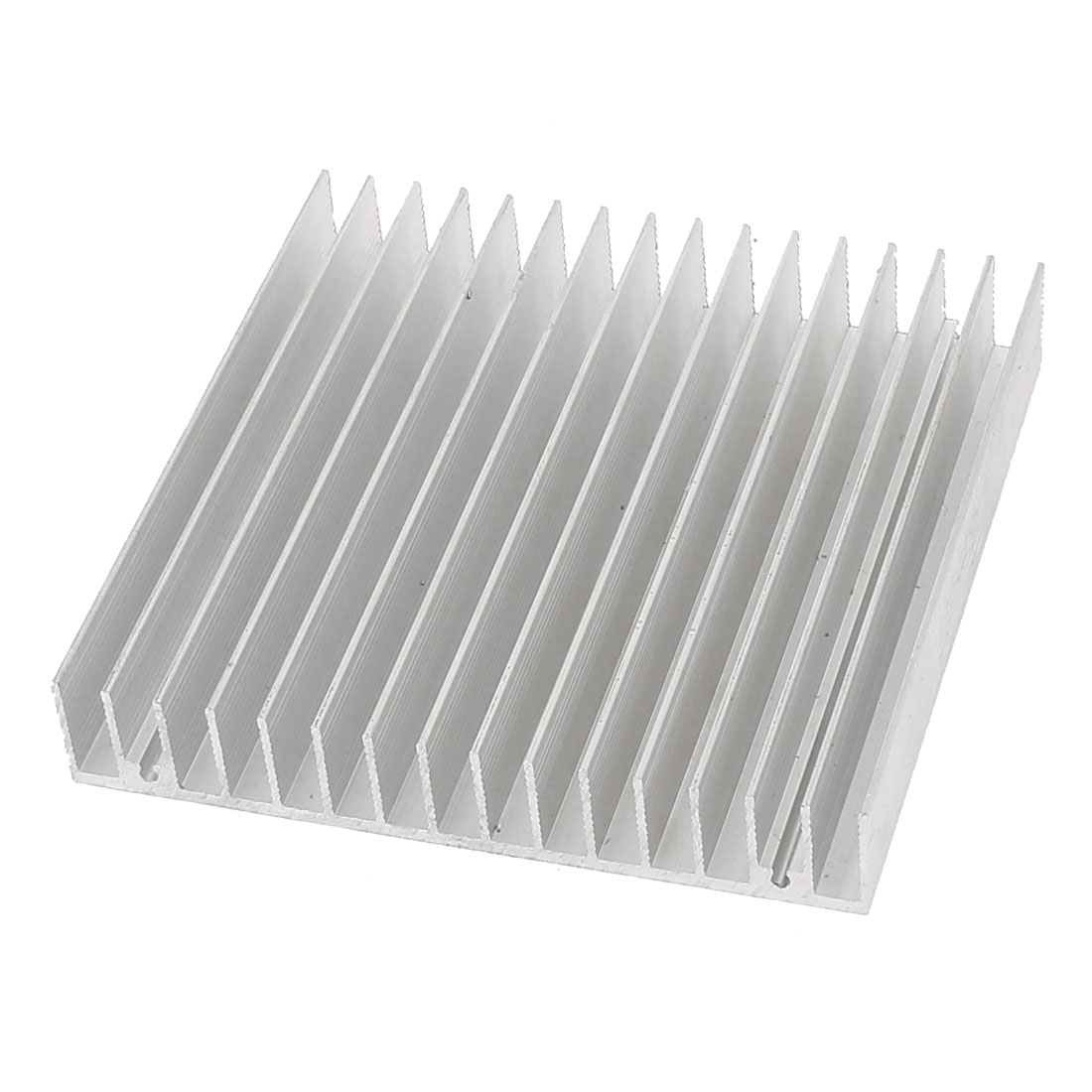 Silver Tone Square Aluminium Radiator Heatsink Heat Sink 100 x 100 x 18mm