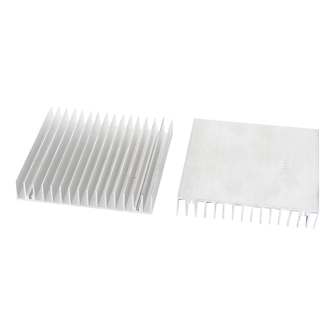 2Pcs Silver Tone Square Aluminium Radiator Heatsink Heat Sink 100 x 100 x 18mm