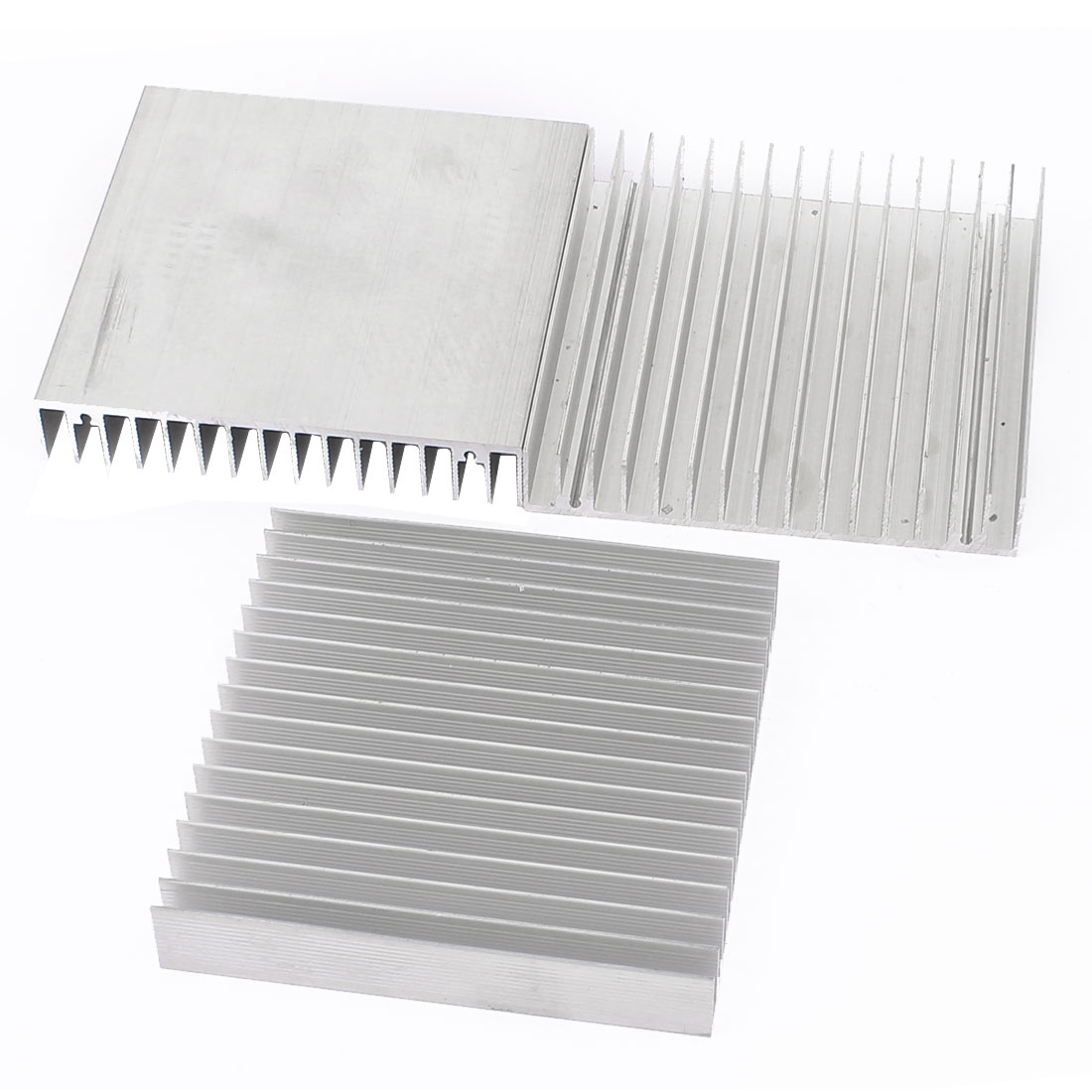 3Pcs Silver Tone Square Aluminium Radiator Heatsink Heat Sink 100 x 100 x 18mm