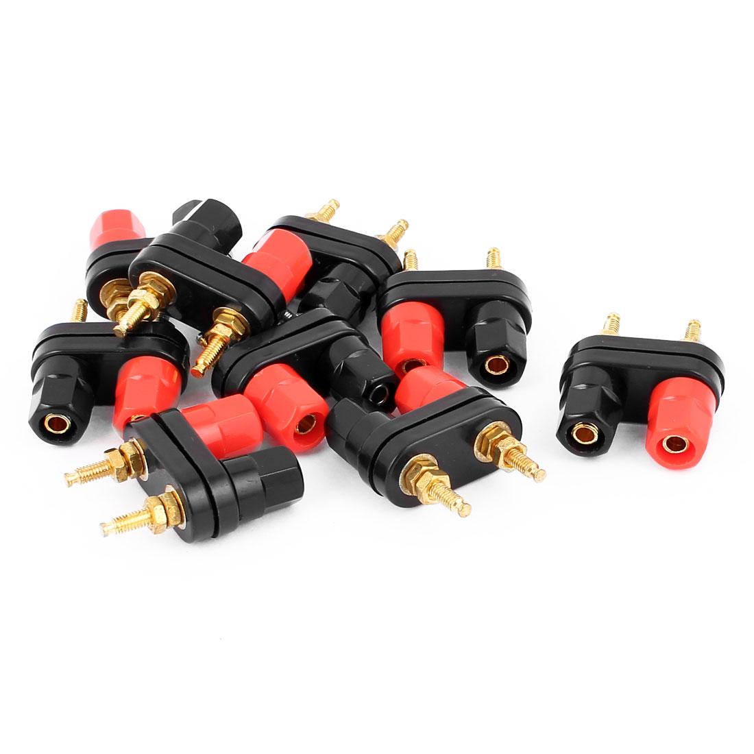 9pcs Plastic Cap Speaker Amplifier Terminal Dual Binding Post Banana Female Connectors