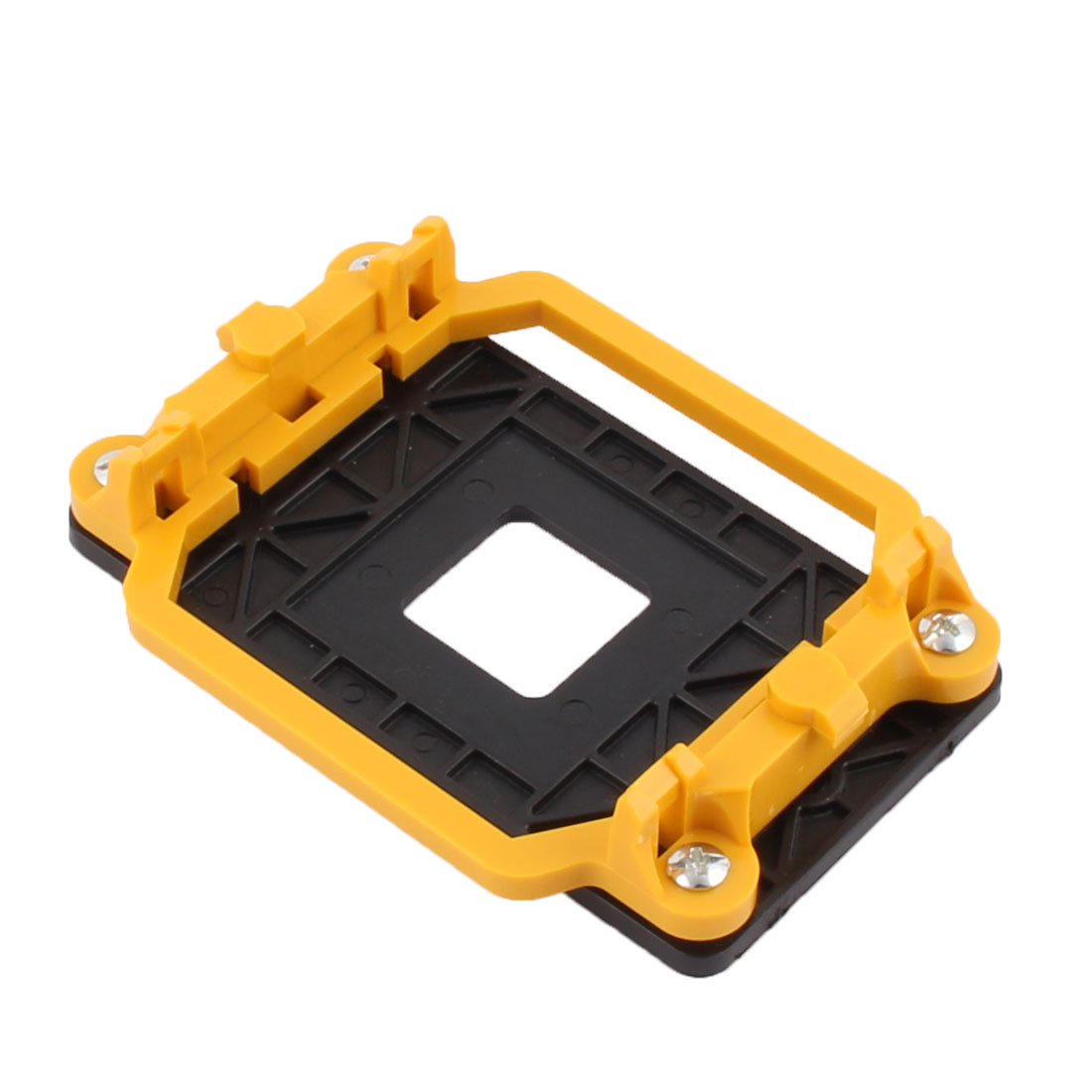 Plastic AMD CPU Cooling Fan Bracket Holder Base Yellow Black for AM2 940 Socket