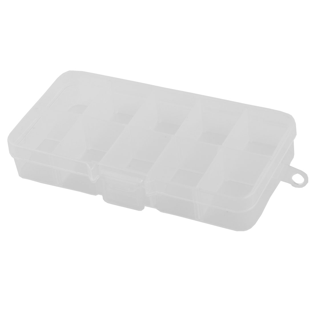Plastic 10 Compartments Jewelry Earring Nail Art Tip Storage Organizer Box Case