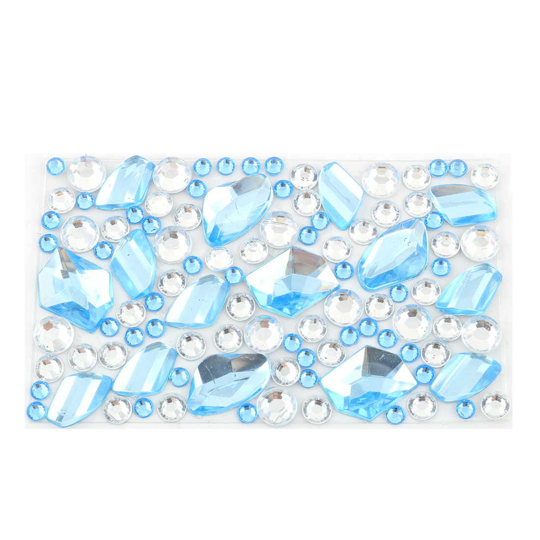 Faux Rhinestone Decor DIY Mobile Cell Phone Self Adhesive Sticker Sheet Blue