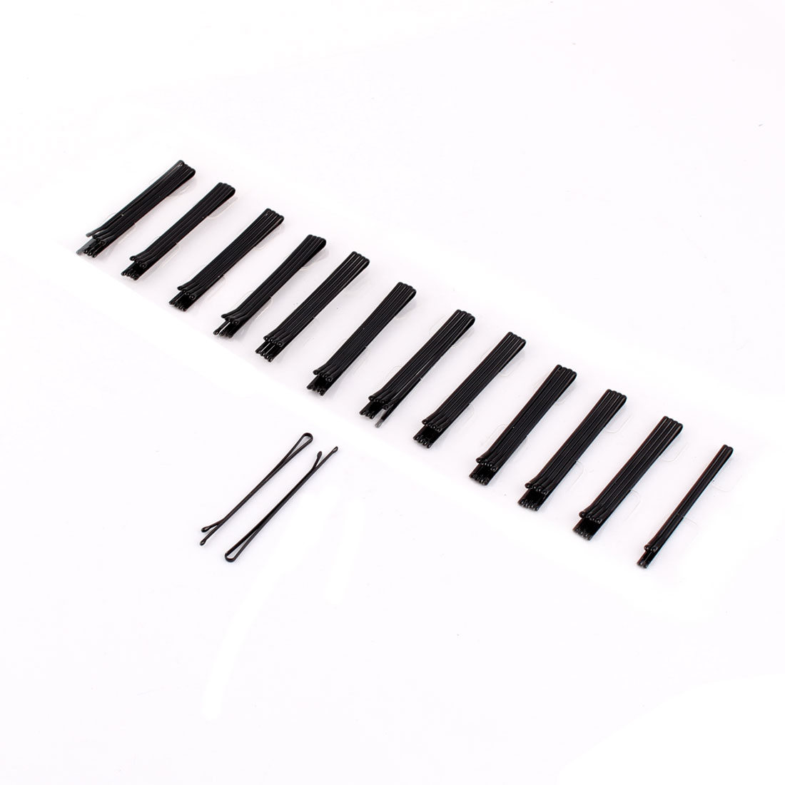 Women Ladies 5cm Length Metal Hairclip Hairpin Hair Clip Barrette Black 48pcs