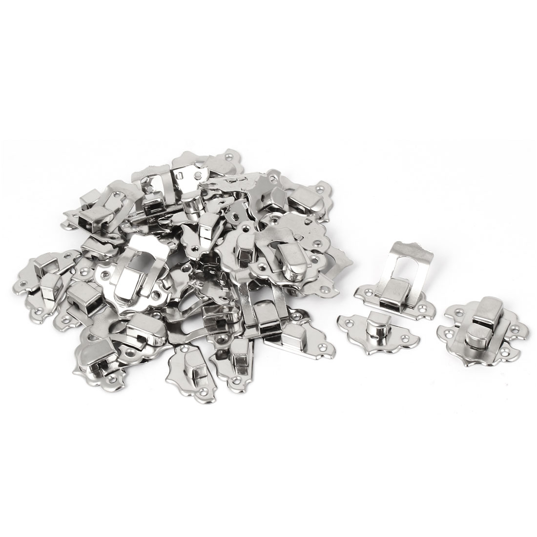 Toolbox Jewelry Gift Box Case Metal Clasp Hasp Latch Catch Silver Tone 20pcs