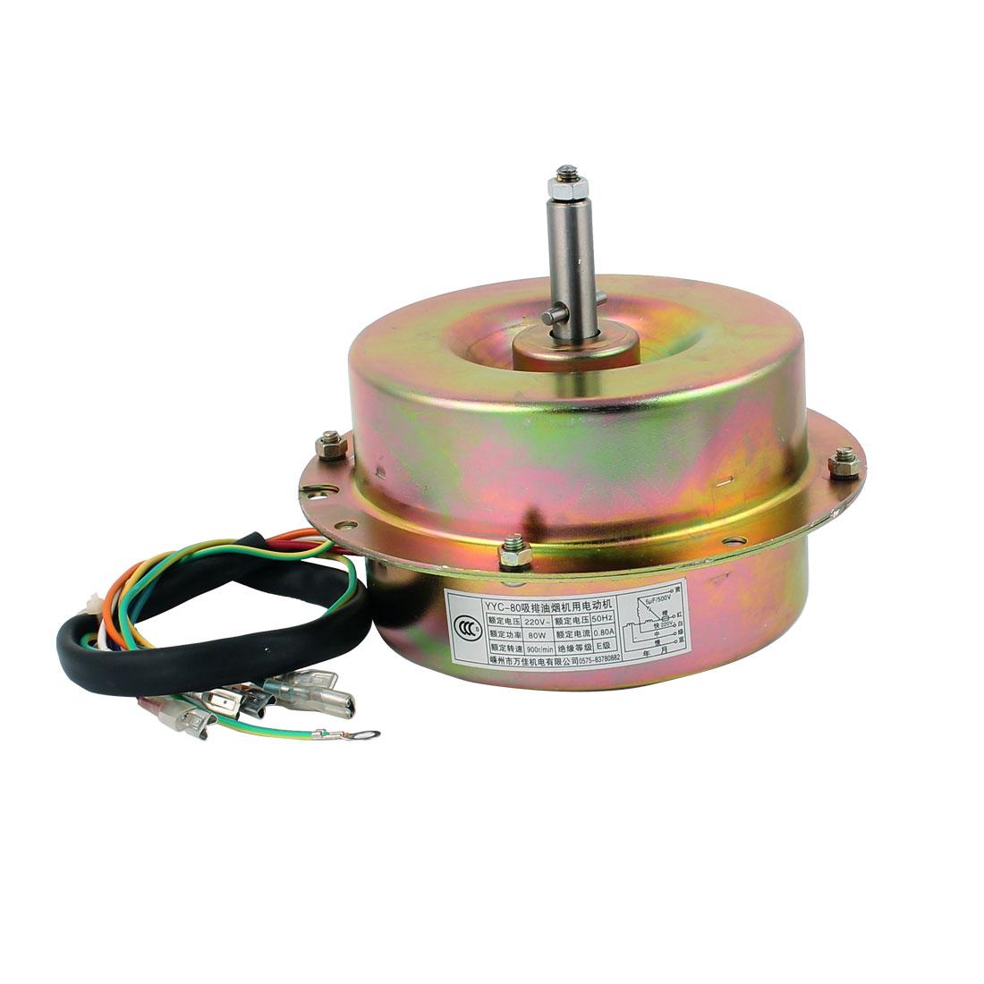 AC 220V 0.8A 80W 900RPM 12mm x 40mm Shaft Dual Bearing Ball Electric Ventilator Fan Motor
