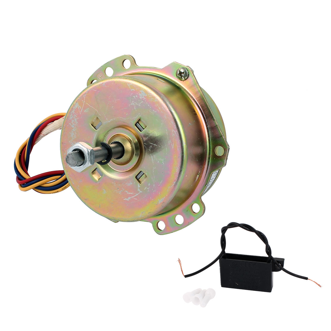 AC 220V 0.14A 10W 1250RPM 8mmx45mm Home Electric Ventilator Fan Motor
