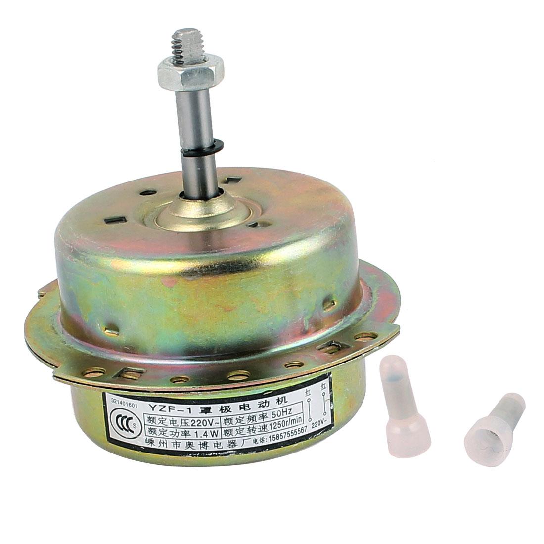 AC 220V 1.4W 1250RPM 8mmx40mm Shaft Dual Bearing Ball CC Electric Ventilator Fan Motor