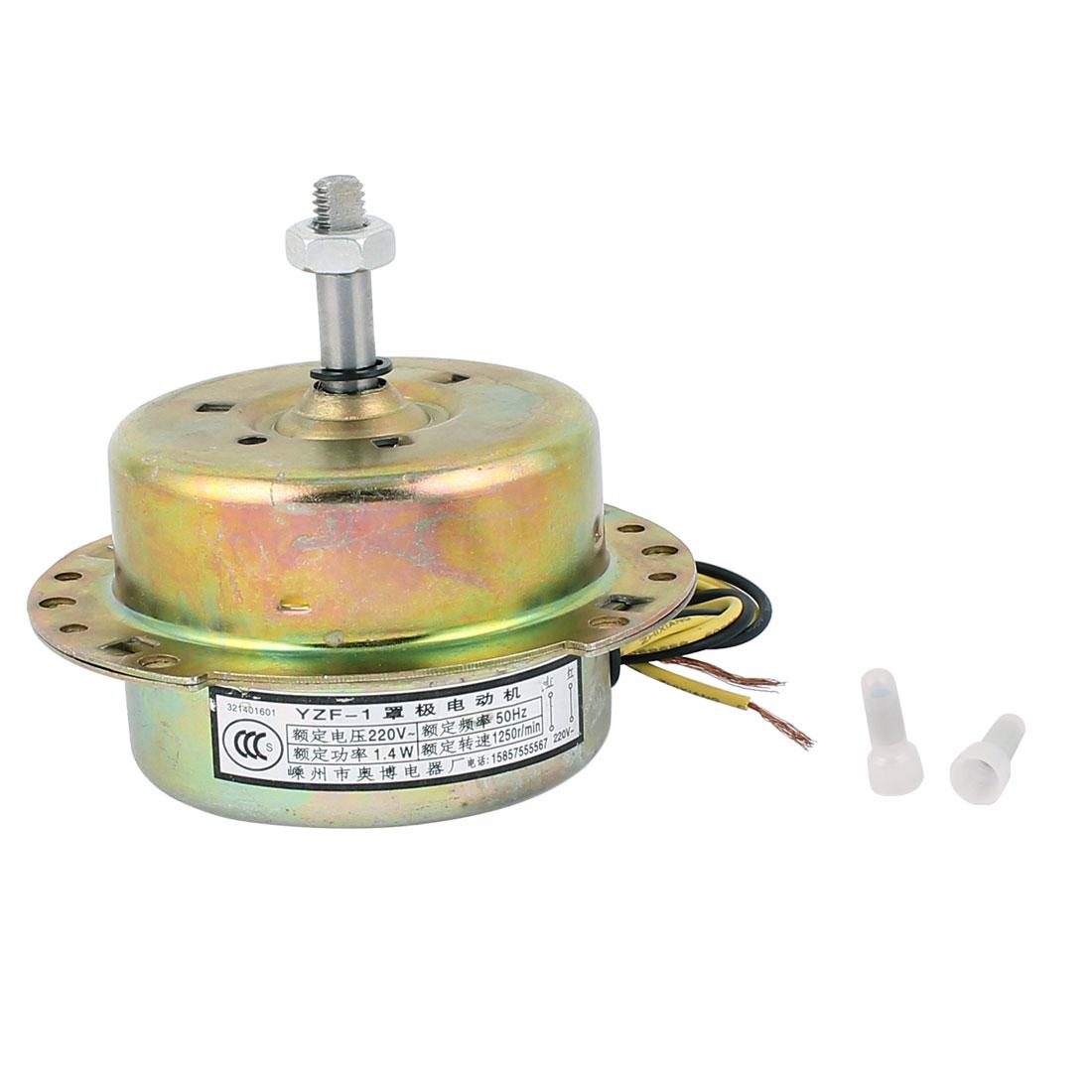 AC 220V 1.4W 1250RPM 8mmx30mm Reverse Rotating Electrical Ventilator Fan Motor