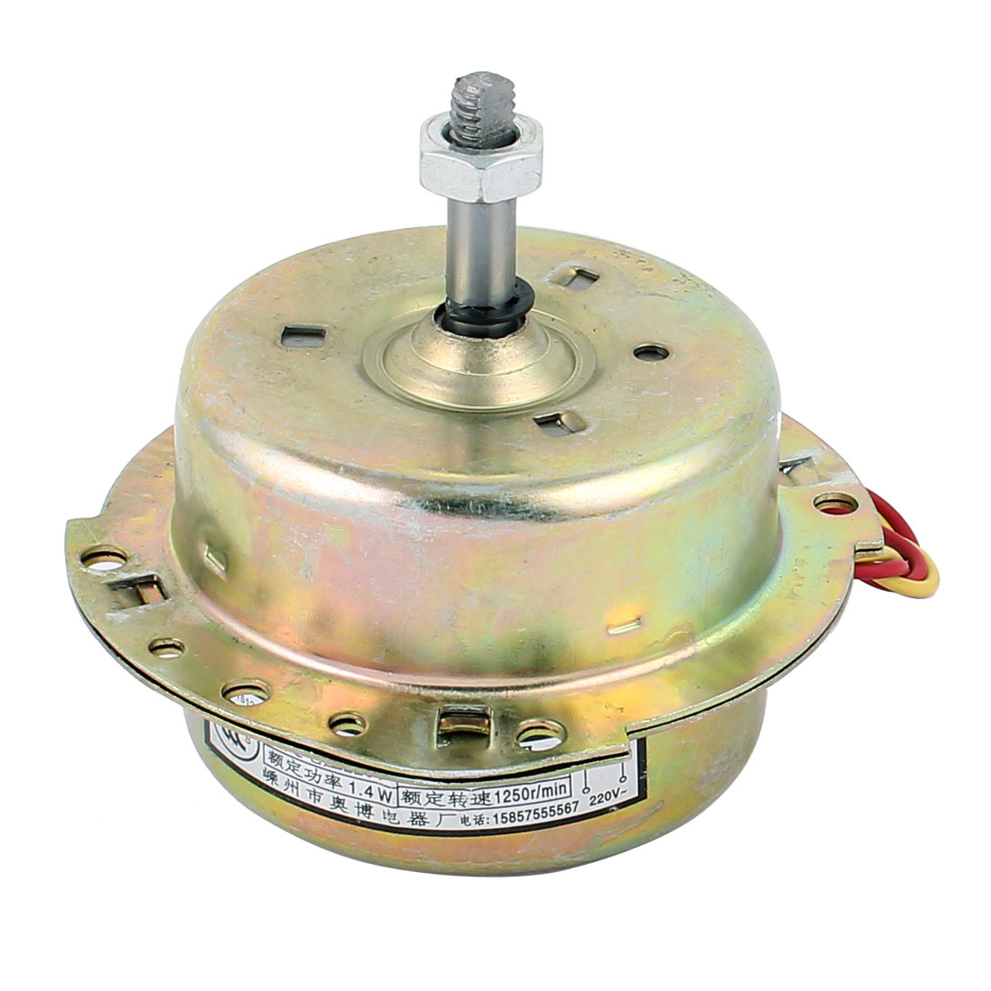 AC 220V 1.4W 1250RPM 8mmx30mm CW Rotating Electrical Ventilator Fan Motor