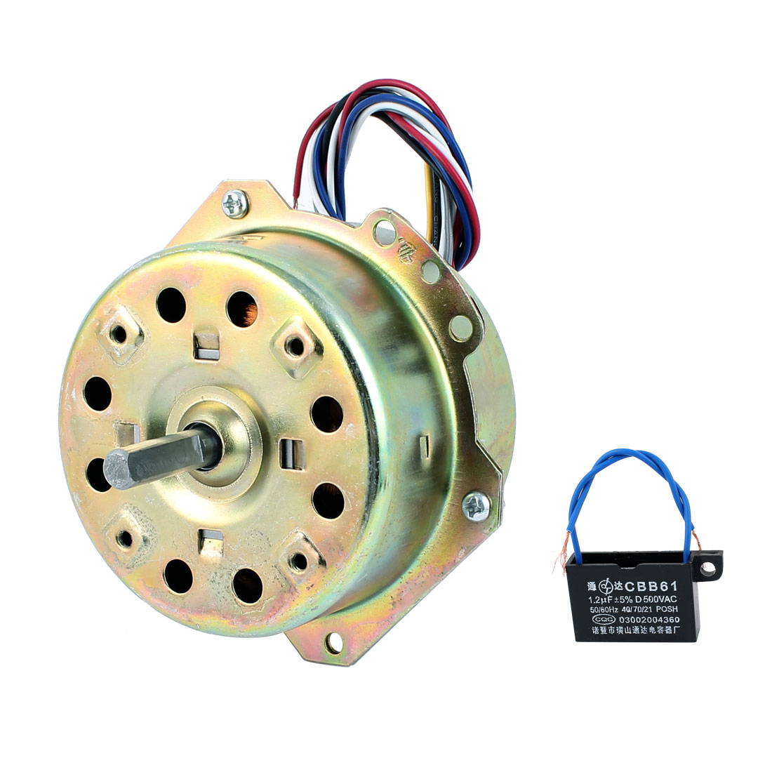 AC 220V 0.34A 1000RPM 8mmx27mm Shaft Dual Bearing Ball Electric Ventilator Fan Motor