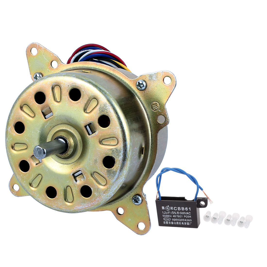 AC 220V 16W 1200RPM 8mmx25mm Shaft Dual Bearing Ball Electric Ventilator Fan Motor