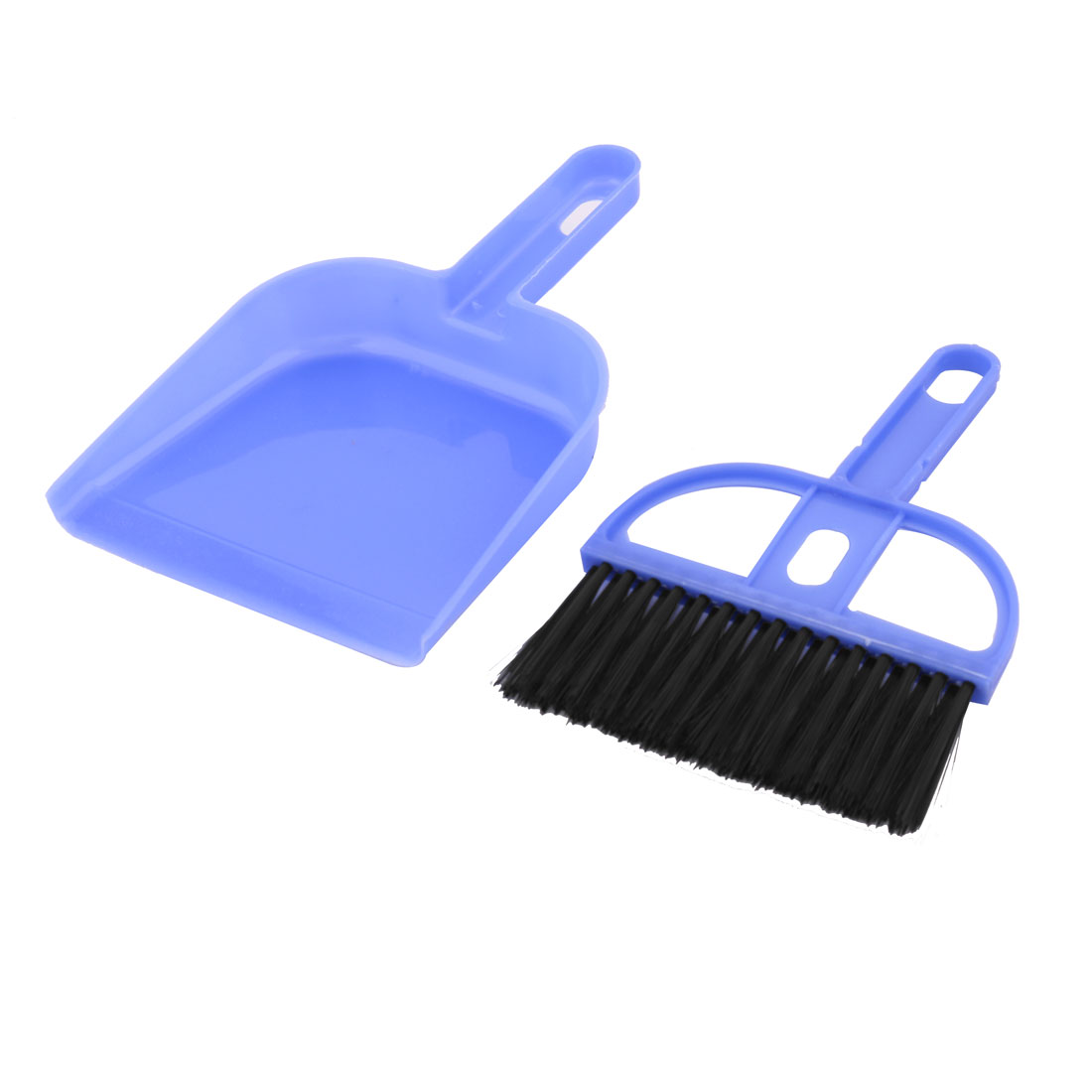 Computer Laptop Desktop Keyboard Cleaning Brush Besom Broom Cleaner Dustpan Set Blue