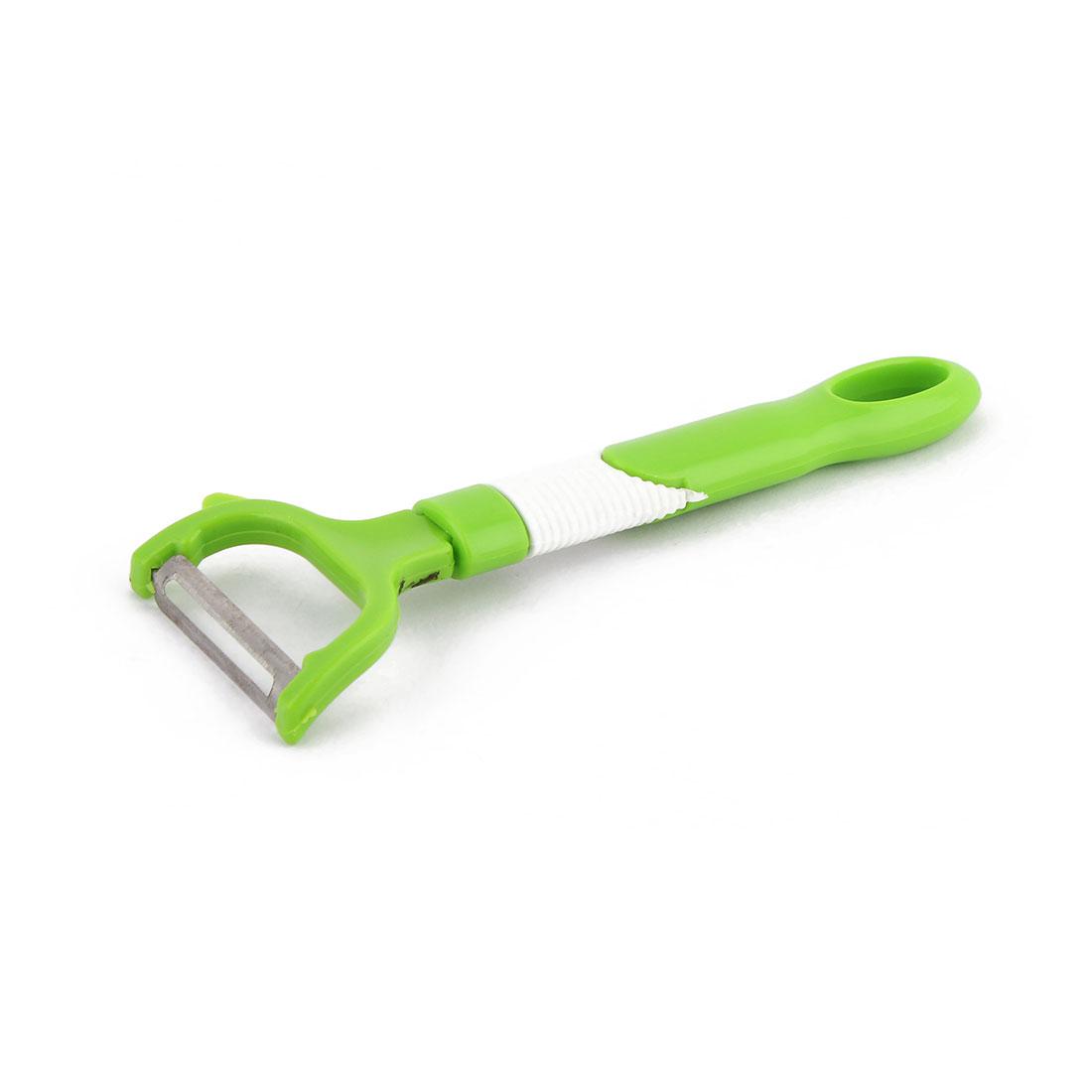 Kitchenware Plastic Fruit Vegetable Peeler Potato Cucumber Cutter Green White