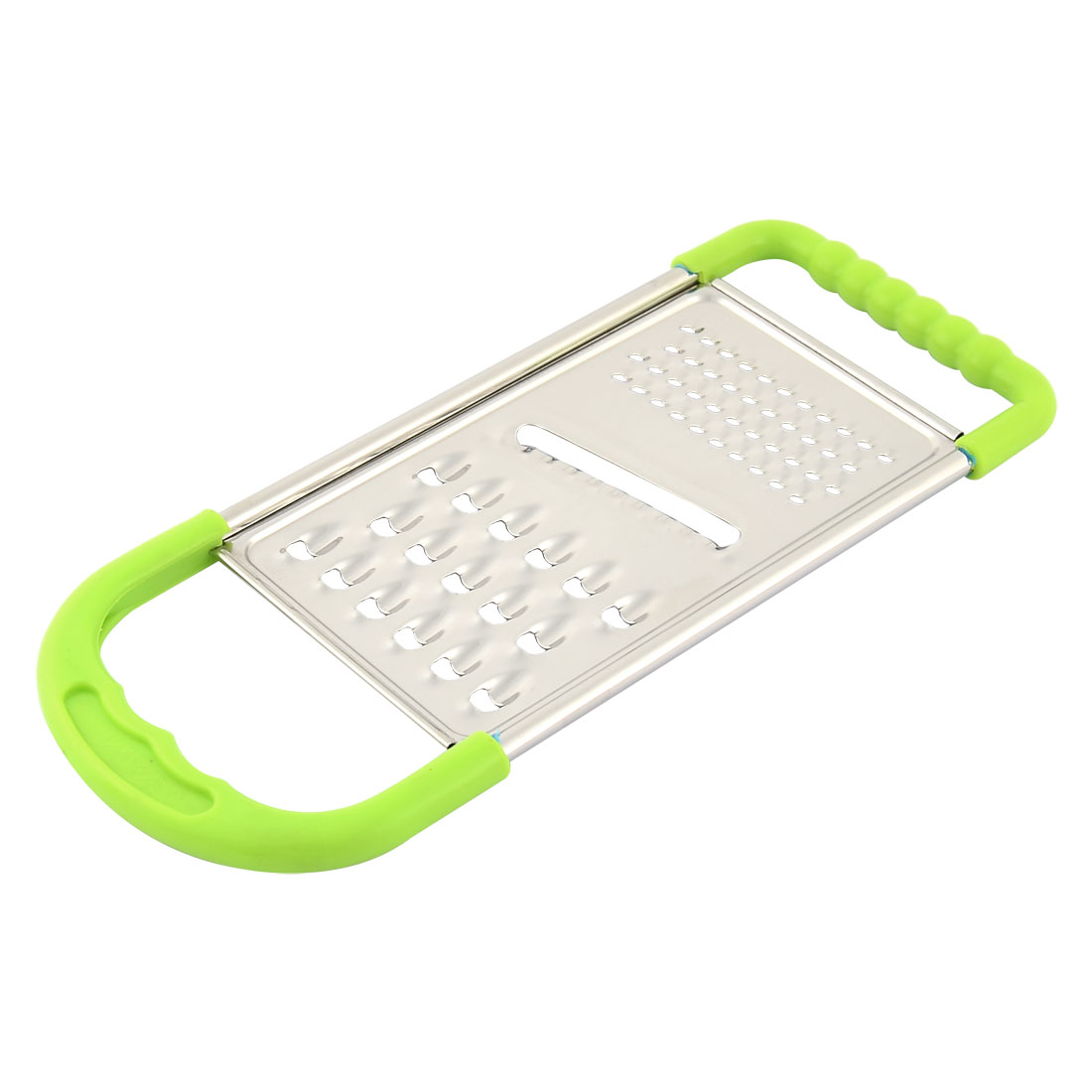 Kitchenware Plastic Nonslip Frame Vegetable Grater Peeler Green Silver Tone