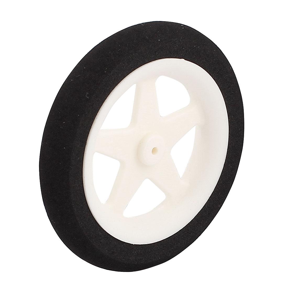 1.8mm Shaft Hole RC Plane Tail Tire Lightweight Sponge Wheel Metric Size D60 H10