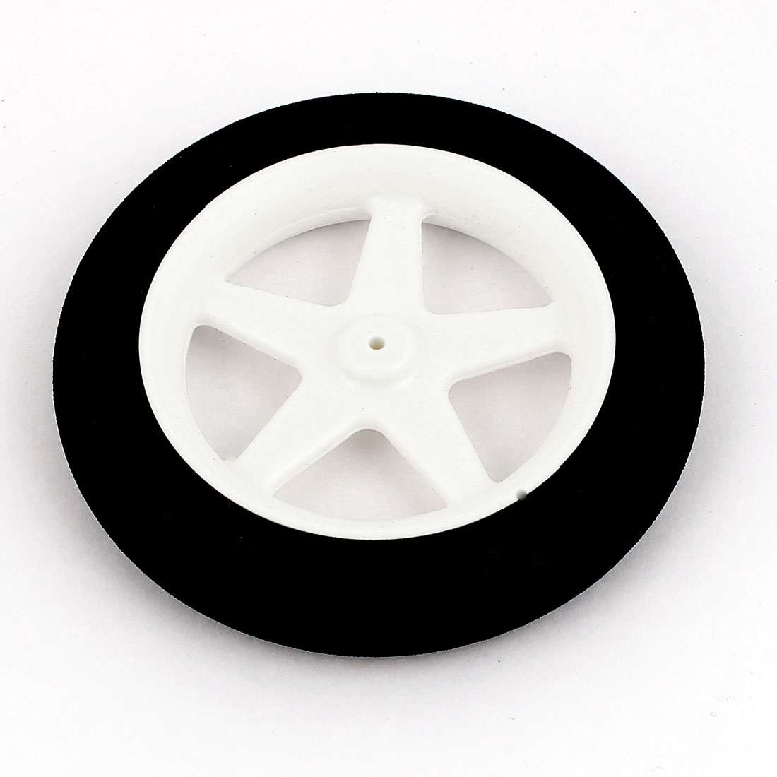 2mm Shaft Hole RC Plane Tail Tire Lightweight Sponge Wheel Metric Size D76 H12.7