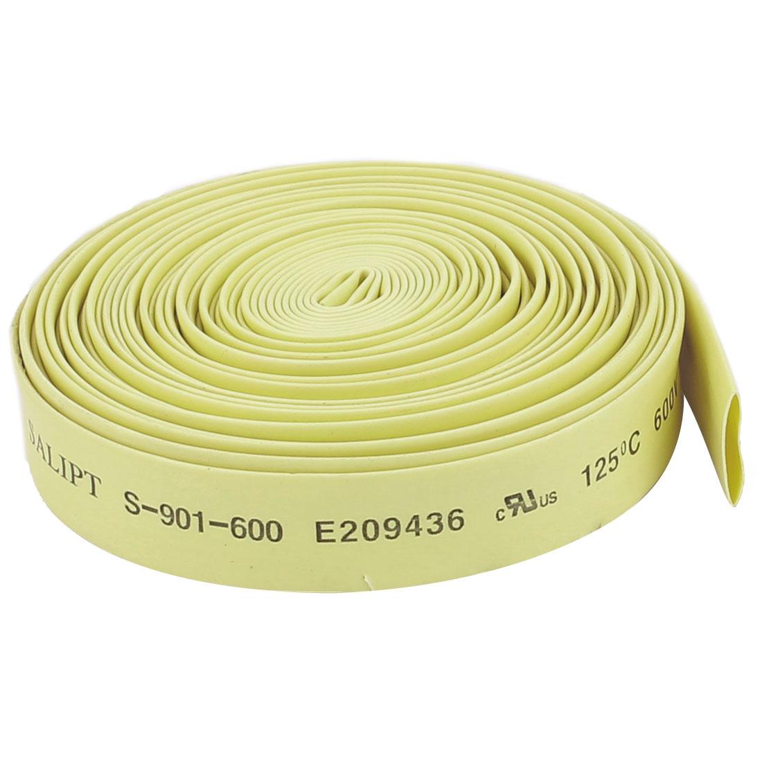 Yellow 8mm Dia 2:1 Polyolefin Heat Shrink Tubing Shrinkable Tube 5M 16.4Ft