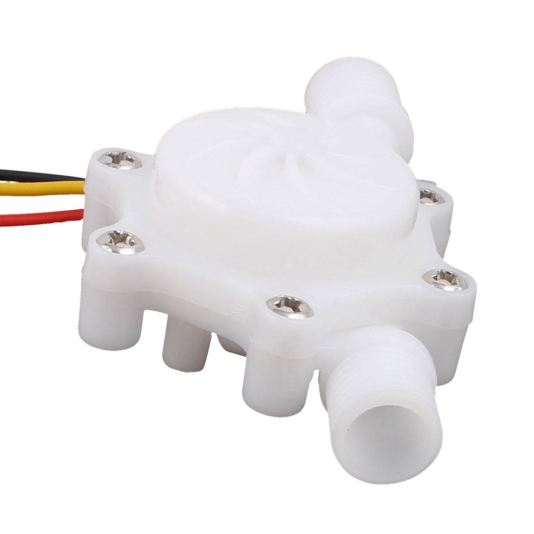"""0.2-2.5L/min G1/4"""" Thread Inlet Outlet Water Flow Counter Sensor SEN-HZ06W"""